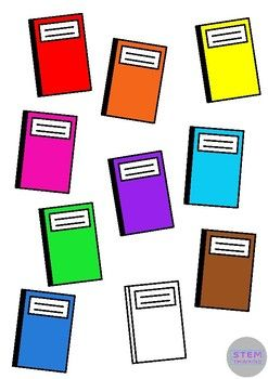 free notebook back to school clip art 10 colors autism rh pinterest co uk clipart notebook and pencil clipart notebook and pen