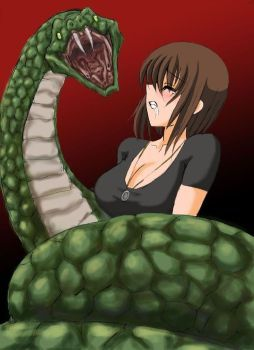 Pity, that Snakes squeezing girls and women