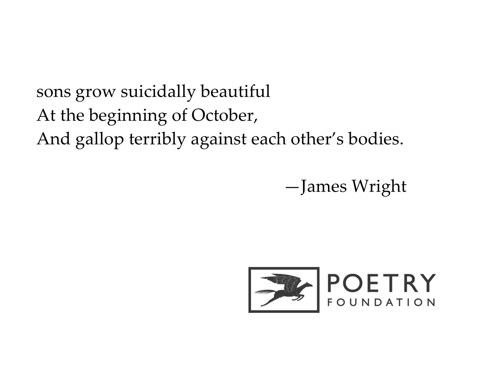 james wright autumn begins