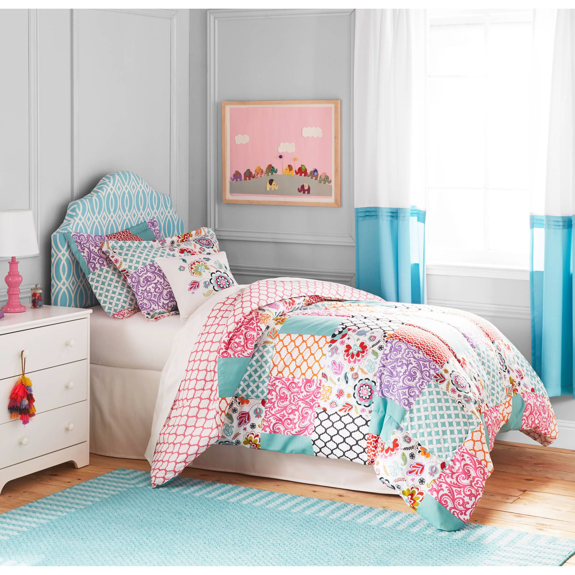 Better Homes and Gardens Kids BOHO Patchwork Bedding Comforter Set ... : quilt comforter sets queen - Adamdwight.com
