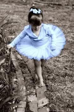 LITTLE BLUE TUTU'ED BALLERINA……IT JUST FLASHED IN HER MIND THAT SHE LEFT HER TOE SHOES SOMEPLACE…..THE QUESTION IS: WHERE????…………..ccp