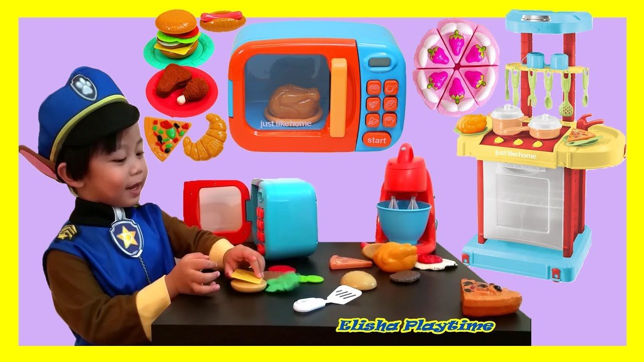 LITTLE CHEF JUST LIKE HOME KITCHEN PLAYSET COOKING PLAYSET TOY FOR ...