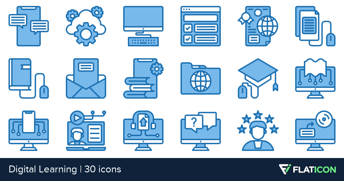 30 free vector icons of Digital Learning designed by