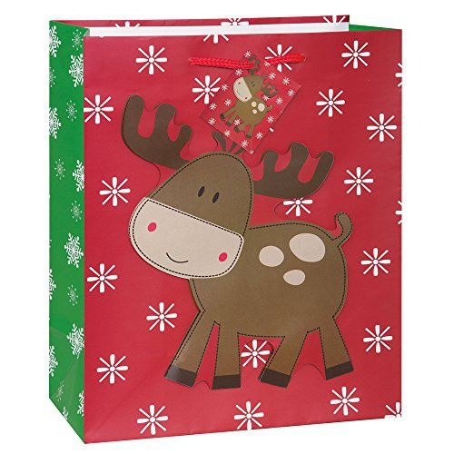 christmas large stitched reindeer christmas gift bag - Large Christmas Gift Bags