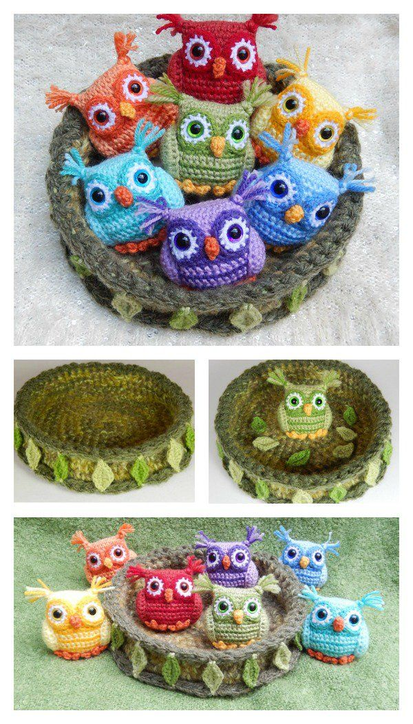 Crochet Nesting Rainbow Owls with Free Pattern | Patrón de ganchillo ...