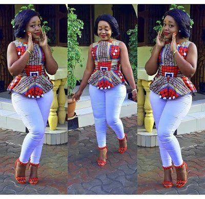 8 Peplum African Kitenge Blouses 2017 Latest African Fashion Dresses African Shirts African Fashion