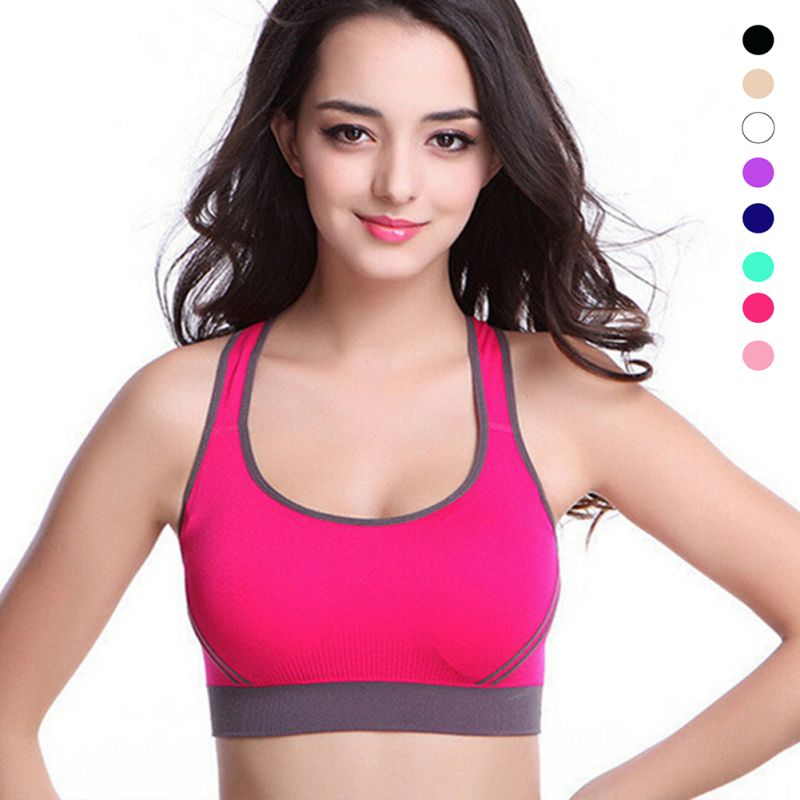 4f2c039e1e1 Hot Professional Women Sports Bras Lady Yoga Running Fitness Quick-drying  Underwear Training Dancing Shockproof