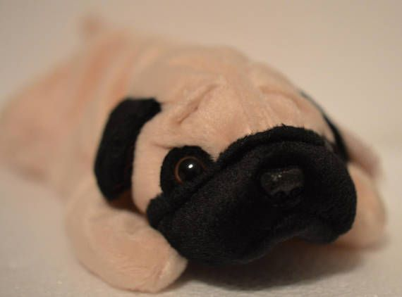 Ty Pugsly the Pug Dog Beanie Baby  bb9fc1004b