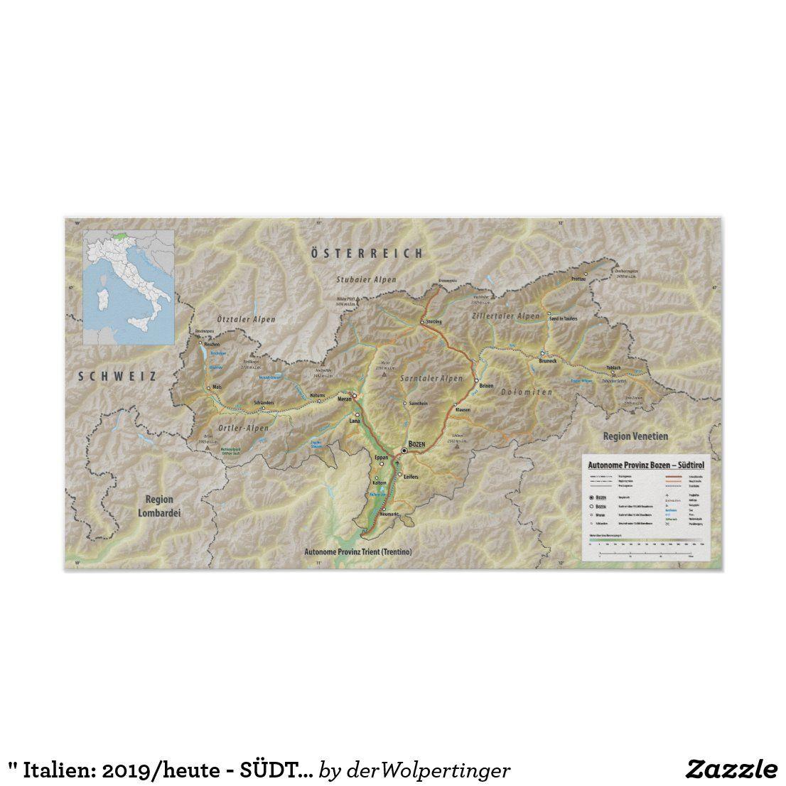 Italien 2019 Heute Sudtirol Poster In 2020 Bozen Sudtirol