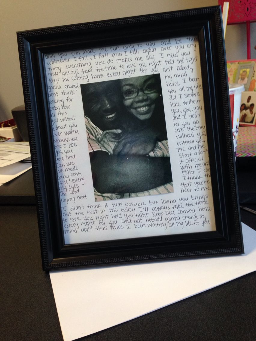 Diy Picture Frame For My Boyfriend With Love Song Lyrics Diy