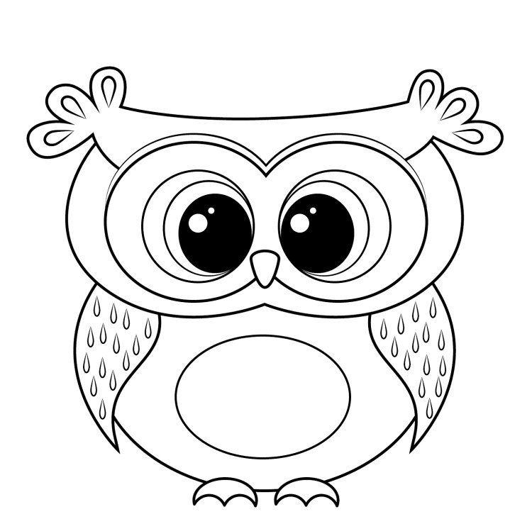 dessin hibou imprimer et bricolage chouette pour enfants dessin hibou cercles et originaux. Black Bedroom Furniture Sets. Home Design Ideas