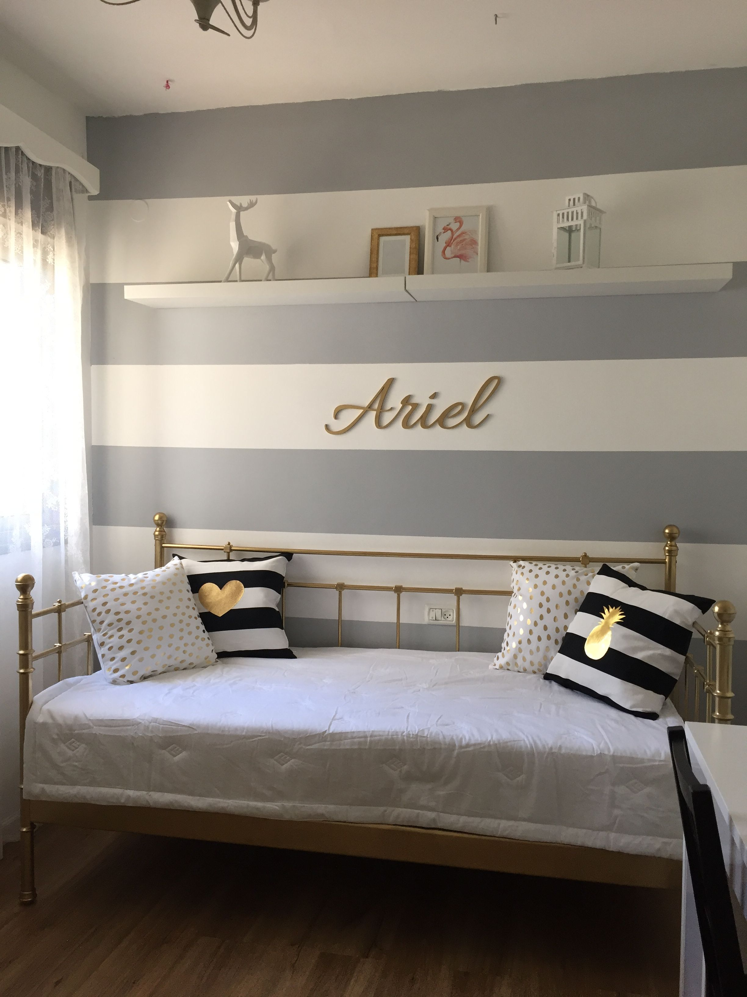 Best Girl Teenager Room In Black White And Gold White Bedroom 400 x 300