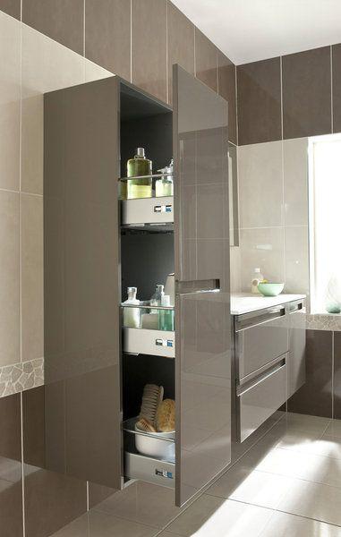 Un design minimaliste mais des rangements sans fin Infiny Lapeyre - Meuble De Salle De Bain Sans Vasque