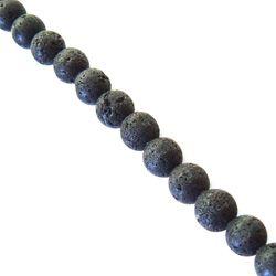 Lava Crystal Beads - Unpolished Round 12mm