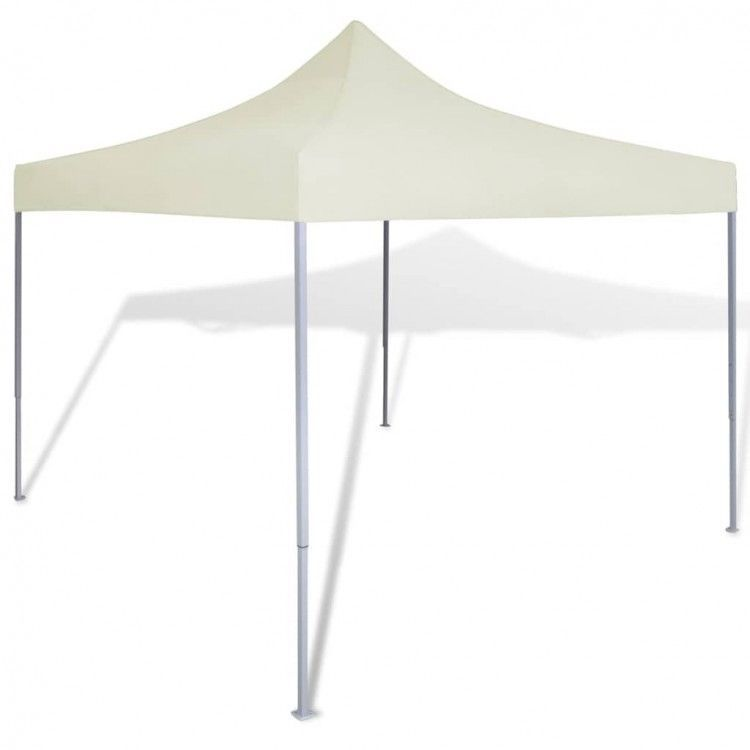 Cream Foldable Tent Sunshade Outdoor Marquee Bbq Party Awning