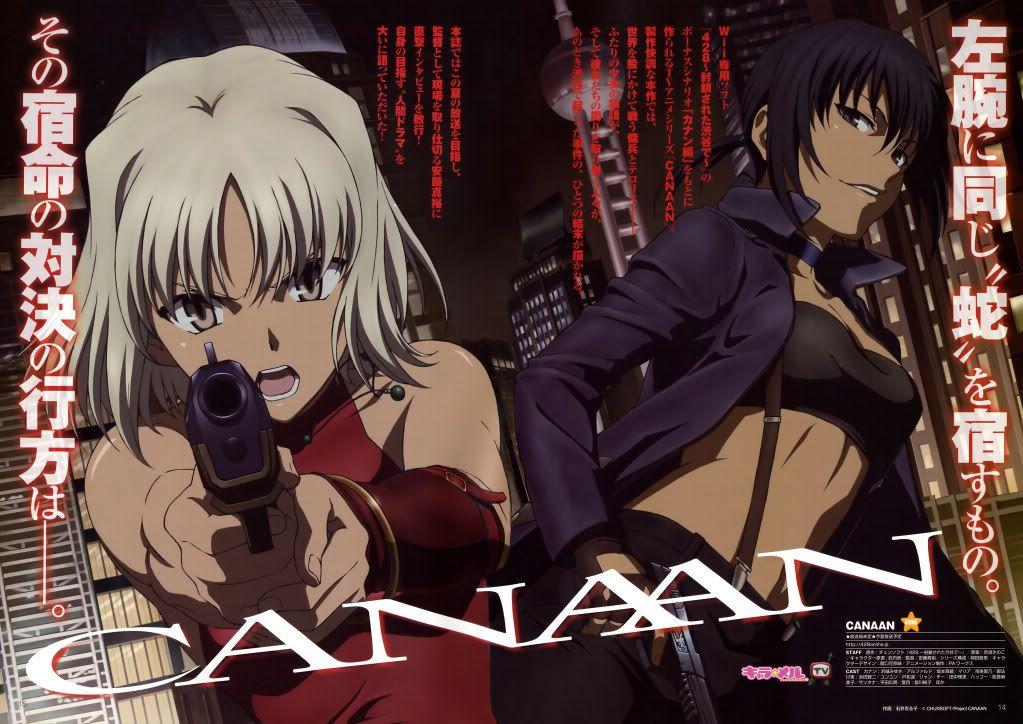 Canaan Canaan anime, Comic illustration, Anime shows