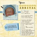 Your Arrival (baby book page 11) - Members' Galleries - Gallery