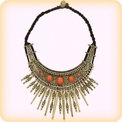 We adore this Gold Tribal Collar Necklace from Miss Selfridge