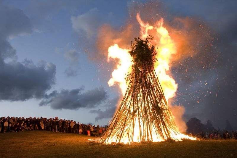 Sankt Hans Bal Midsummer Bonfire Denmark Ceiling Lights Summer Solstice Midsummer