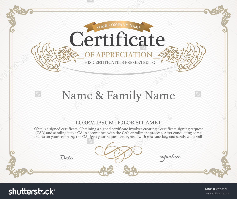 Certificate design template thai art design stock vector certificate design template thai art design stock vector illustration xflitez Image collections
