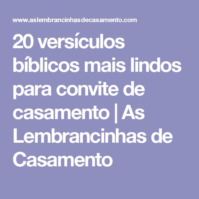 20 Versículos Bíblicos Mais Lindos Para Convite De Casamento Eu