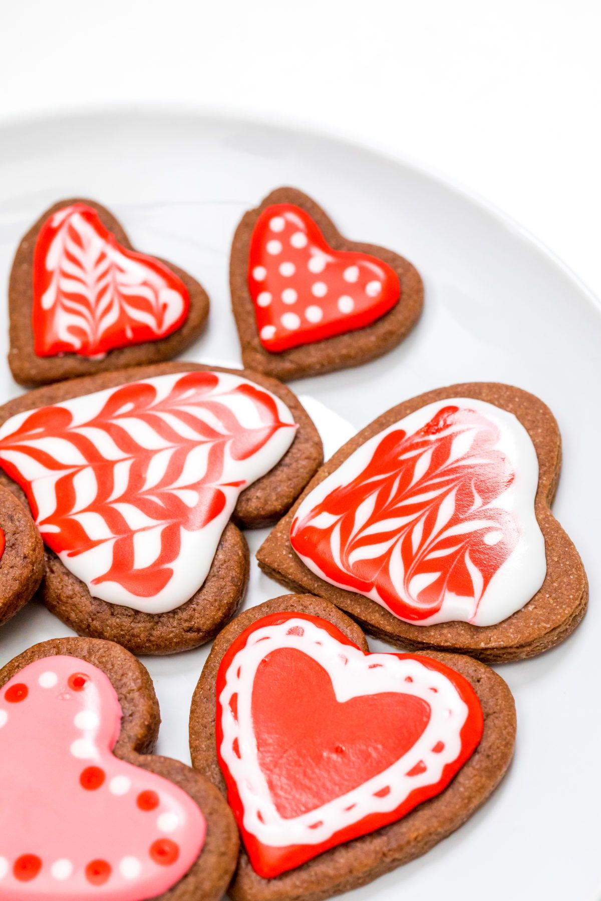 Heart-shaped brownie cutout cookies - Thanksgiving.com