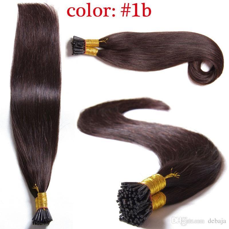 100 Brazilian Remy Human Hair Extensions Cheap Stick I Tip Pre