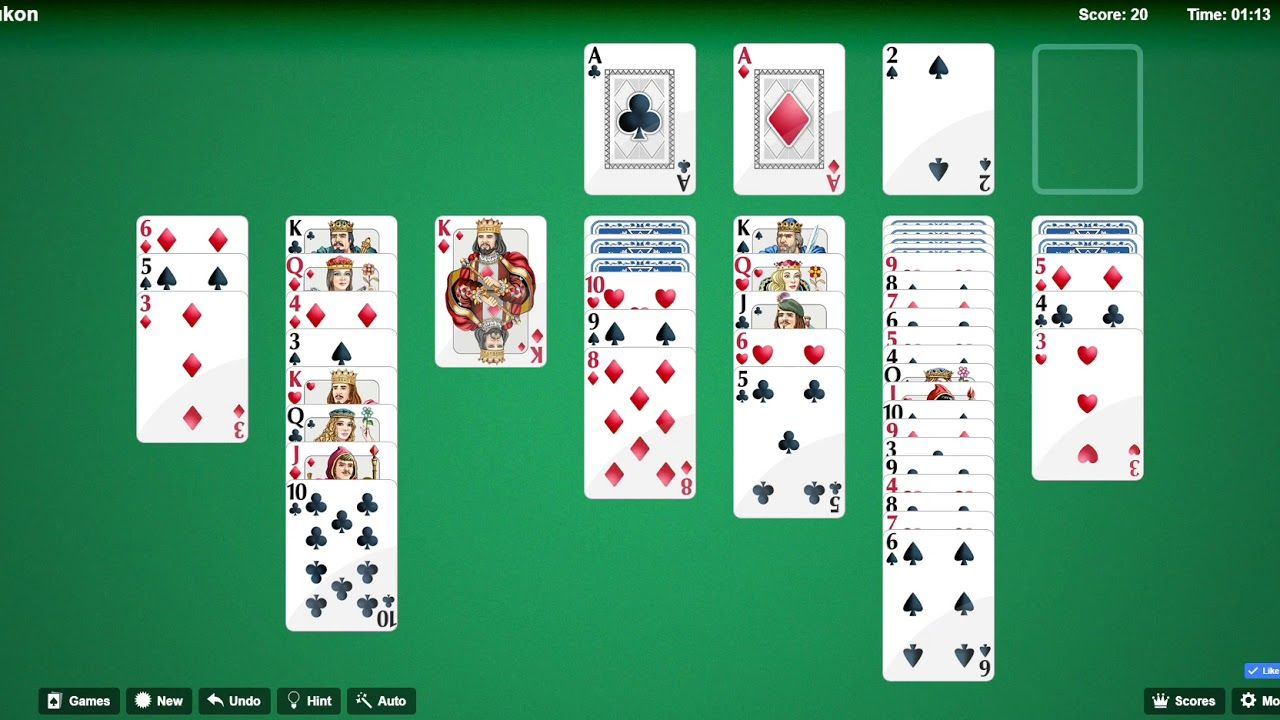 How To Play And Win Yukon Solitaire With 123 Free Solitaire Solitaire Play Free