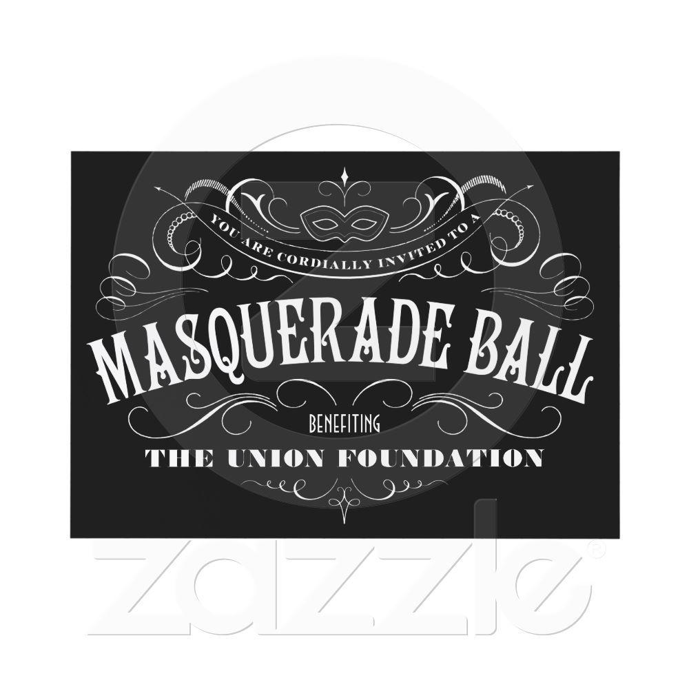 Black and White Masquerade Ball Invitations   Masquerade ball ...