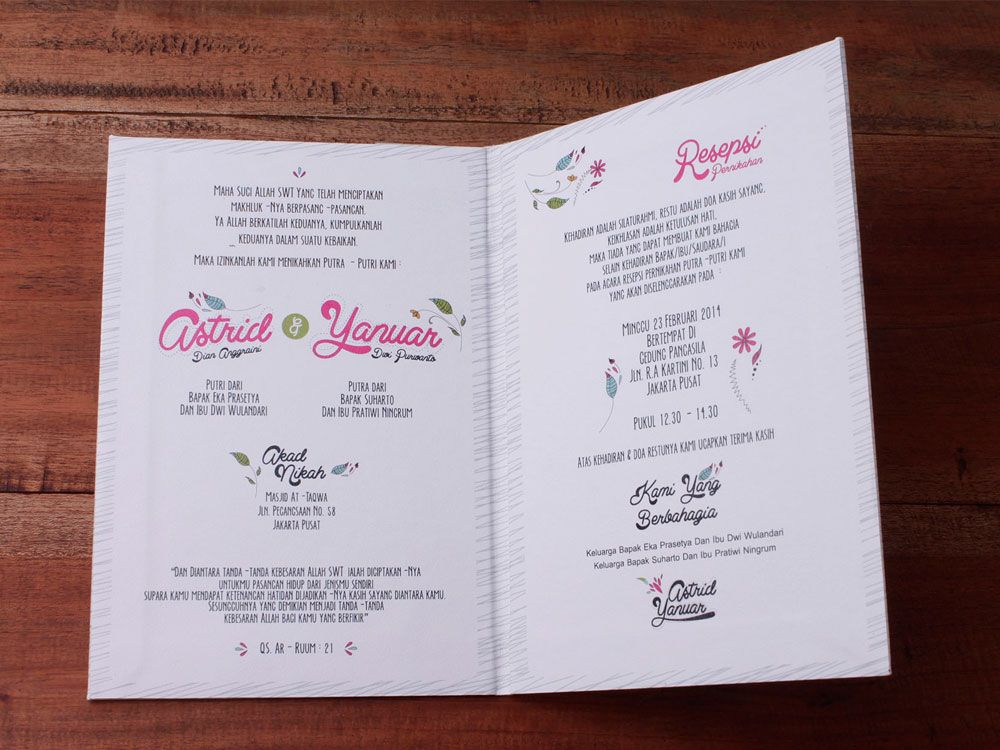 Pin by Initustudio on Undangan Pernikahan Pinterest Wedding and - best of invitation text adalah