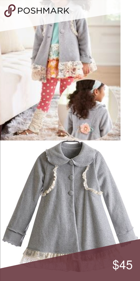 a93ce11f Peaches'n Cream Toddler Girl Coat With Lace. Peaches 'n Cream Toddler Girls  Coat With Lace and Flower In Grey/Cream Size 4T, new with tags.