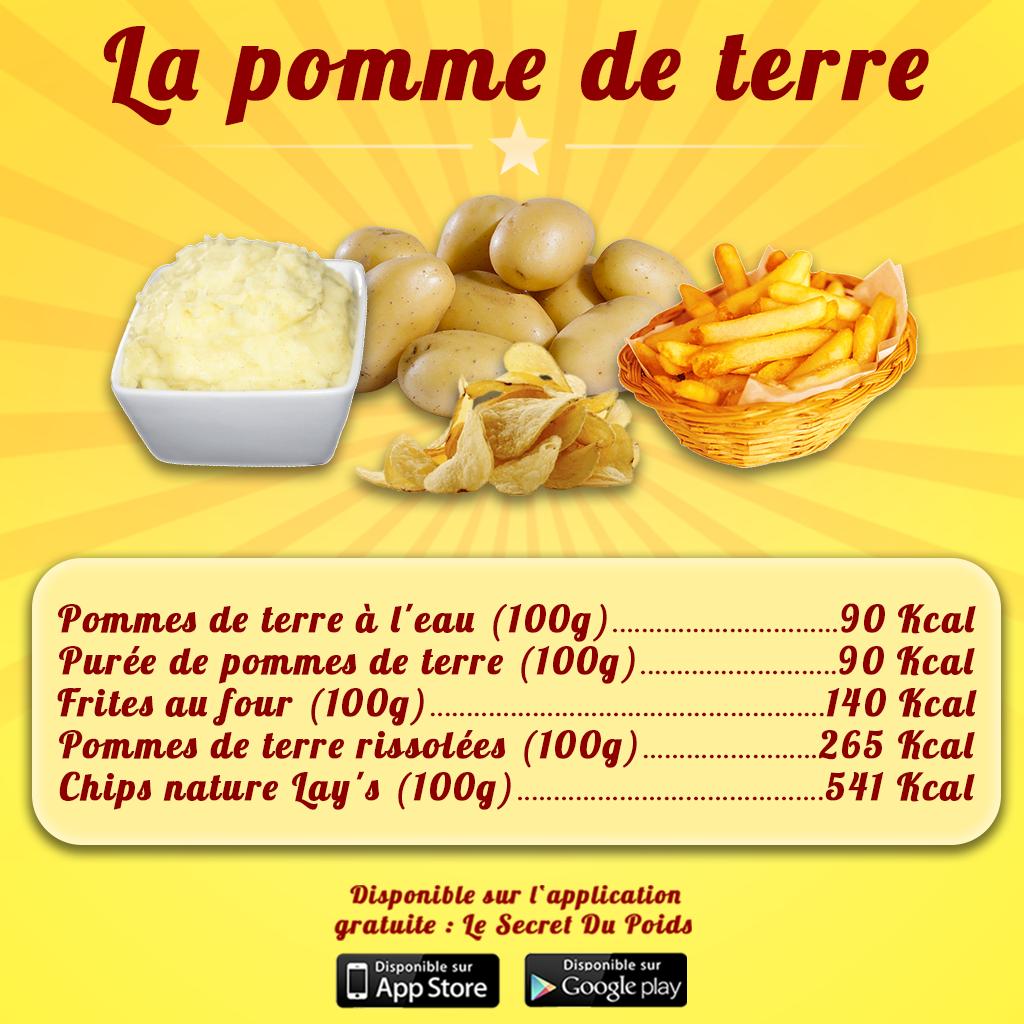 Comparaison calories de la pomme de terre : purée, chips ...