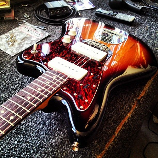 """@dallasrol's photo: """"New strings for the jazz, #jazzmaster #favorite #guitar"""""""