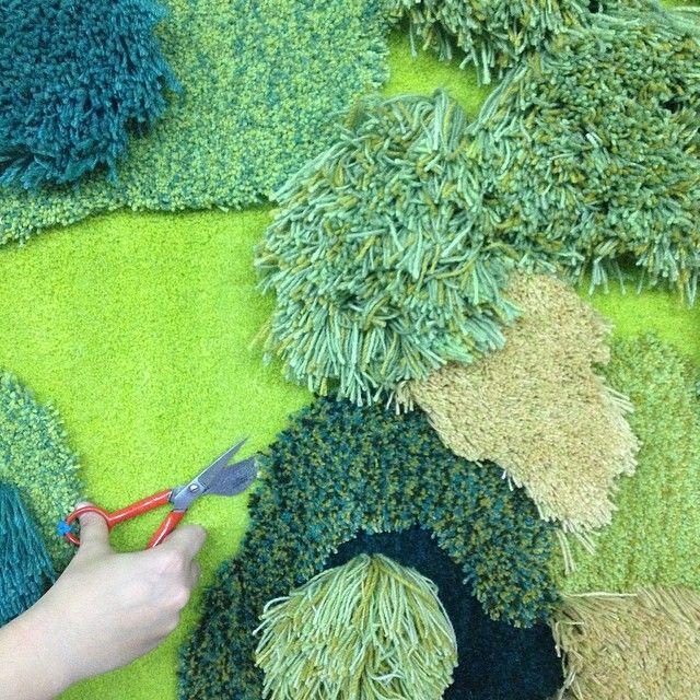 Instagram Blog Organic Rug Fabric Art Hook Design