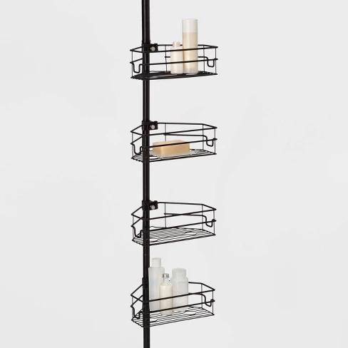Steel Corner Pole Caddy Made By Design Shower Caddy Shower Stall Made By Design