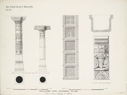 Titel   Pillars and screen slabs from various buildings at Patan | Surveyor…