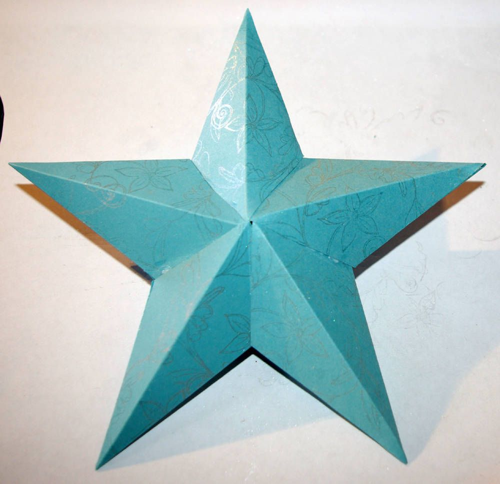 Easy To Make 3d Paper Star Ornament Paper Stars 3d Paper Star