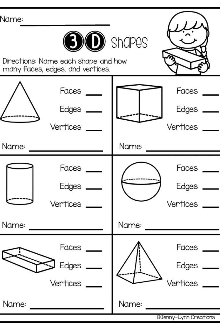Exploring Shapes 2-D \u0026 3-D   Shapes kindergarten [ 1125 x 750 Pixel ]