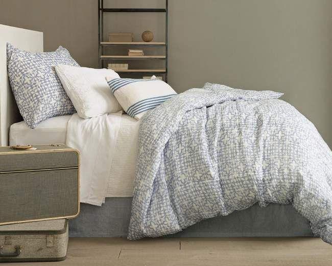 #PineConeHill Veena Blue Duvet Cover 508. Duvet  Matelasse Coverlet 370.00, Bed Skirt 275.00, Shams 80.00each
