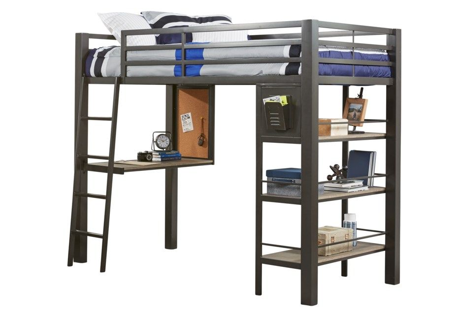 Colefax Avenue Gray Twin Loft Bed With