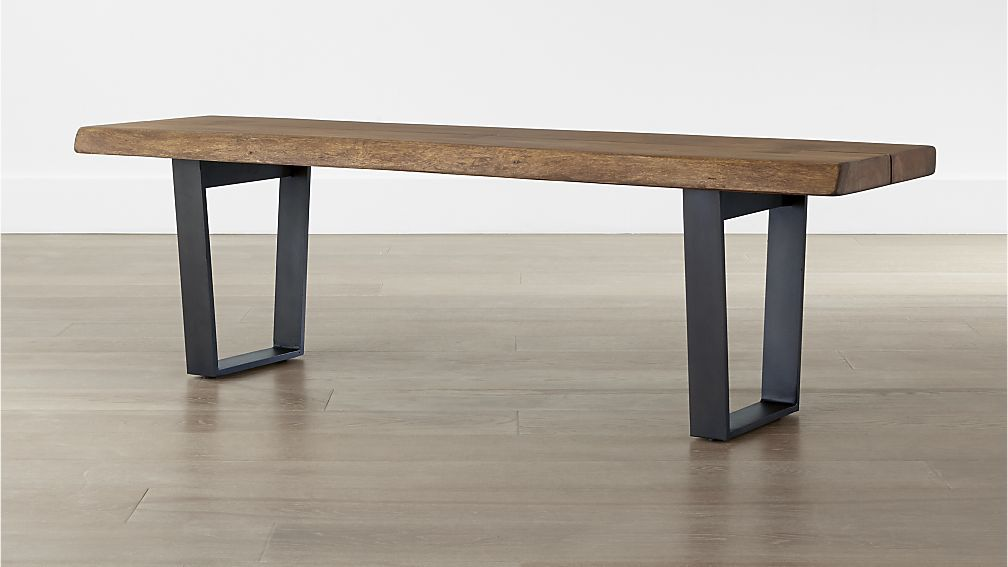 Cool entry bench - kick your shoes under - $599 - Yukon Small Coffee Table-Bench | Crate and Barrel