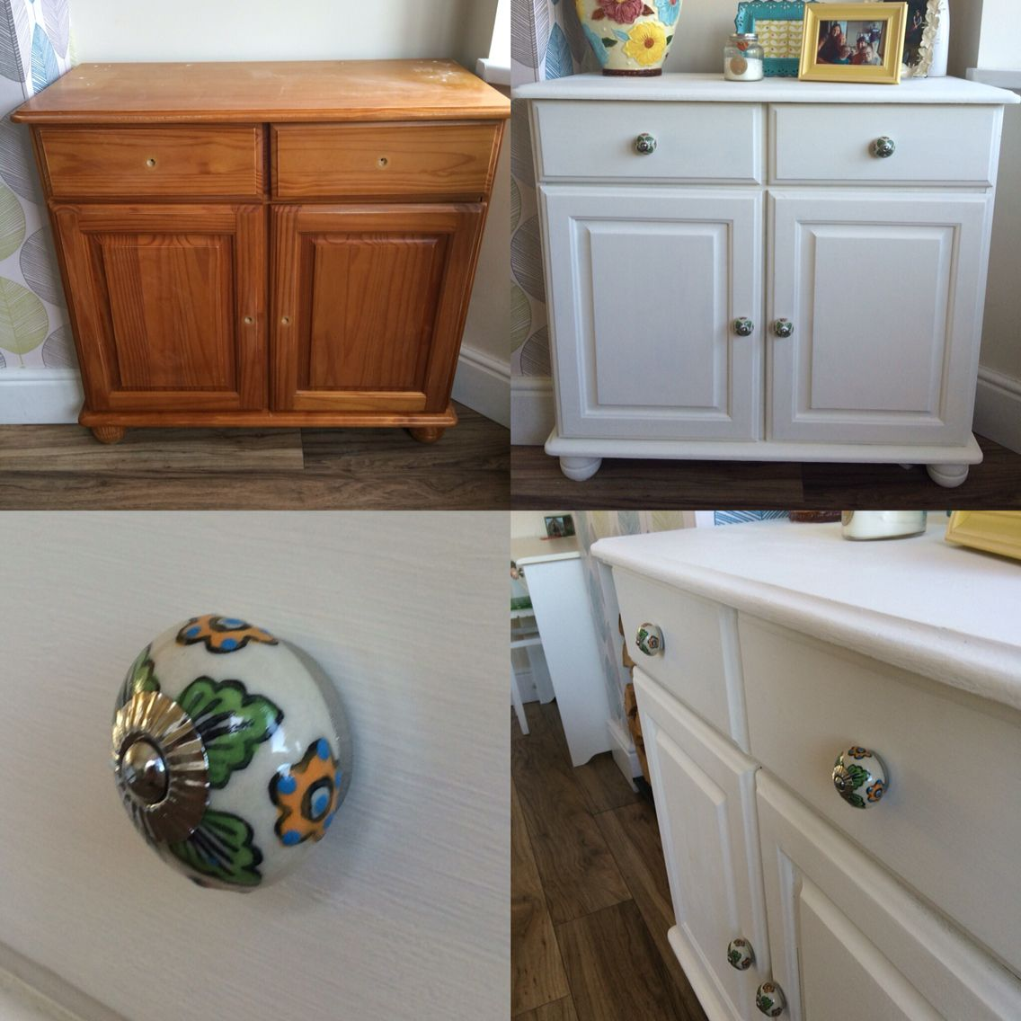 Before and after shots of my revamped Welsh Dresser. I ...