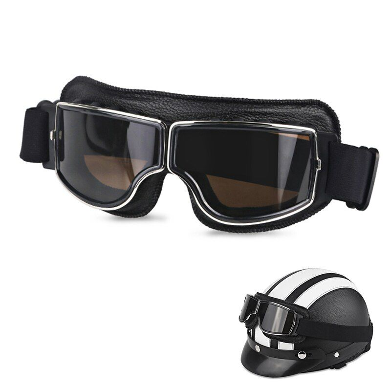 Collapsible Goggles Motorcycle Motocross Off Road ATV Helemt Glasses Eye Protect