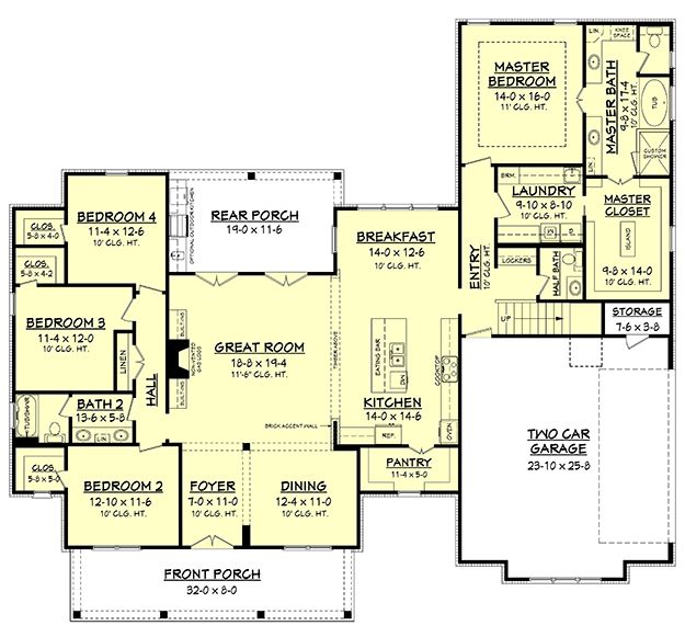 House plan 041 00160 country plan 2686 square feet 4 bedrooms 2 5 bathrooms modern farmhouse