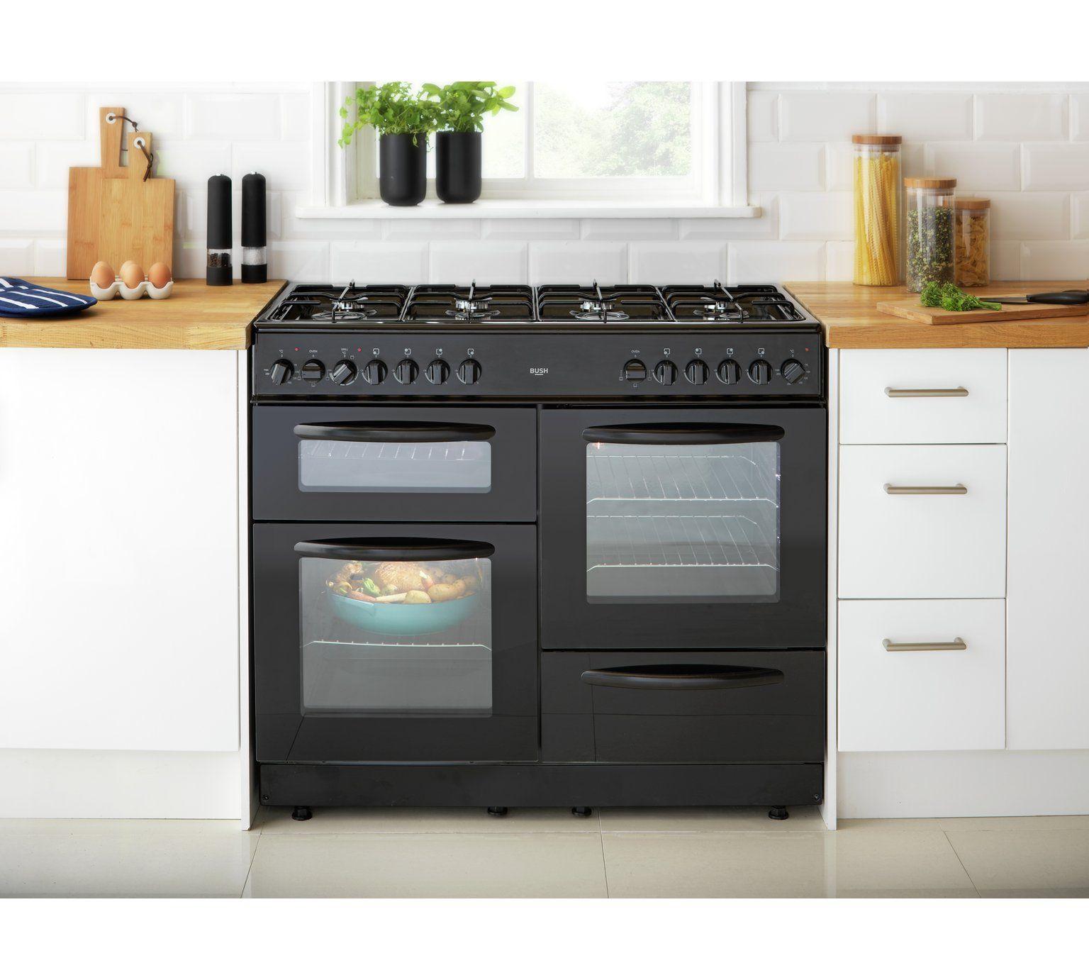 Buy Bush BC100DFB Dual Fuel Range Cooker - Black at Argos.co.uk ...
