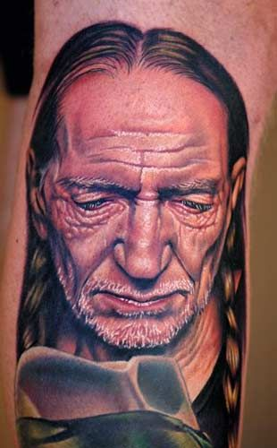 6873dce3f0002 Seriously awesome. Nikko - Willie Nelson Portrait Tattoo | Tattoos ...