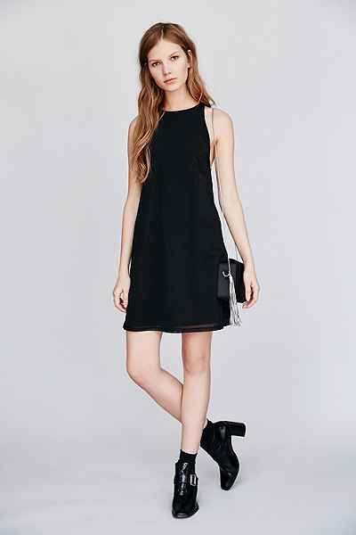 Lucca Couture Sleeveless Mesh Dress