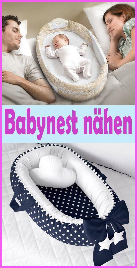 Babynest / Nestchen nähen – Einfache DIY Anleitung & Schnittmuster #baby