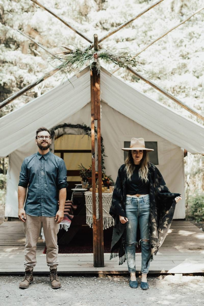 Waterfall Adventure Elopement and Glamping Inspiration via Rocky Mountain Bride #glamping #glamping #photoshoot