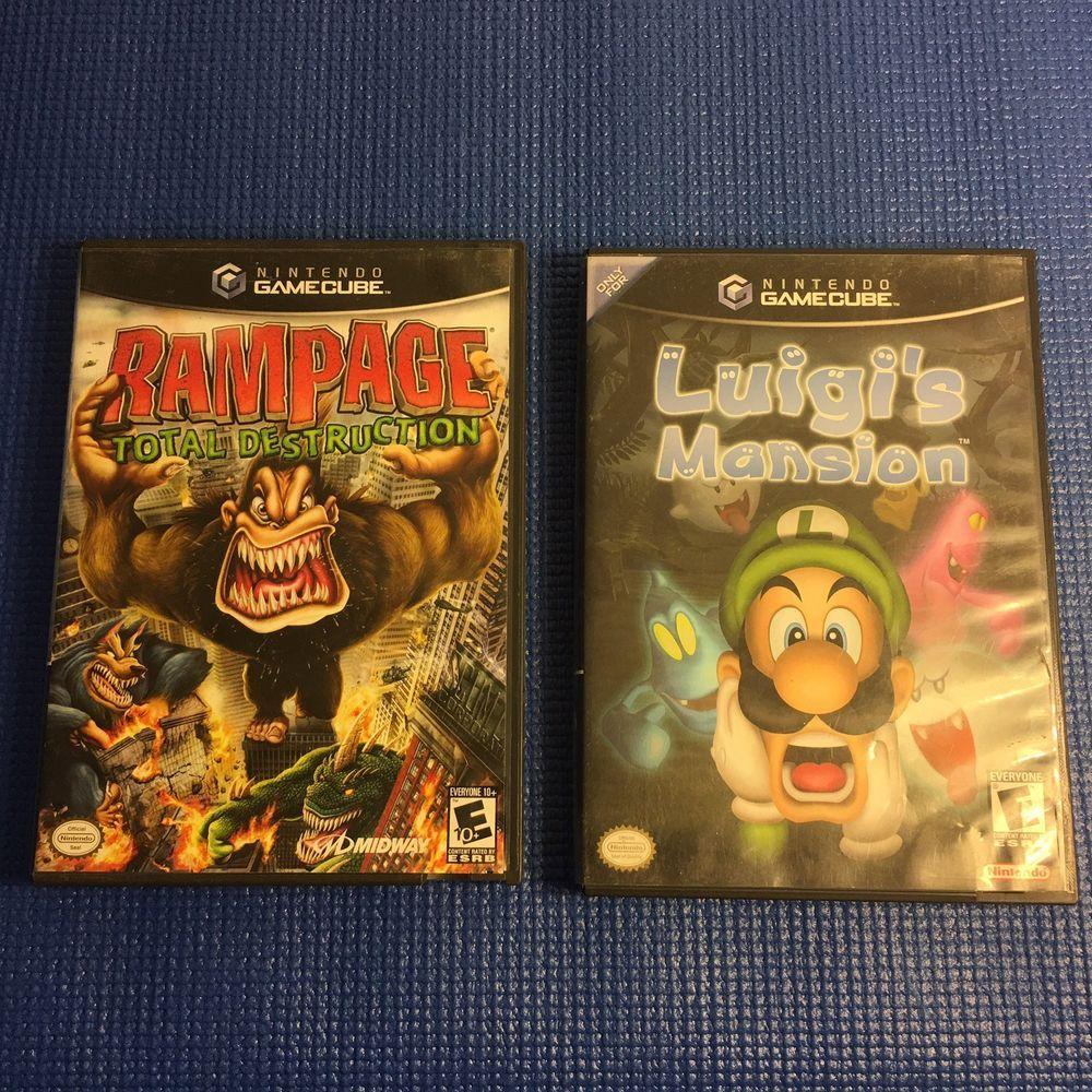 Nintendo Gamecube Game Bundle Rampage Total Destruction